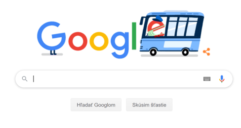 Screenshot google vyhľadávača google.sk