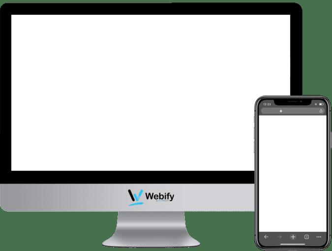 Prázdna obrazovka počítača a smartfónu