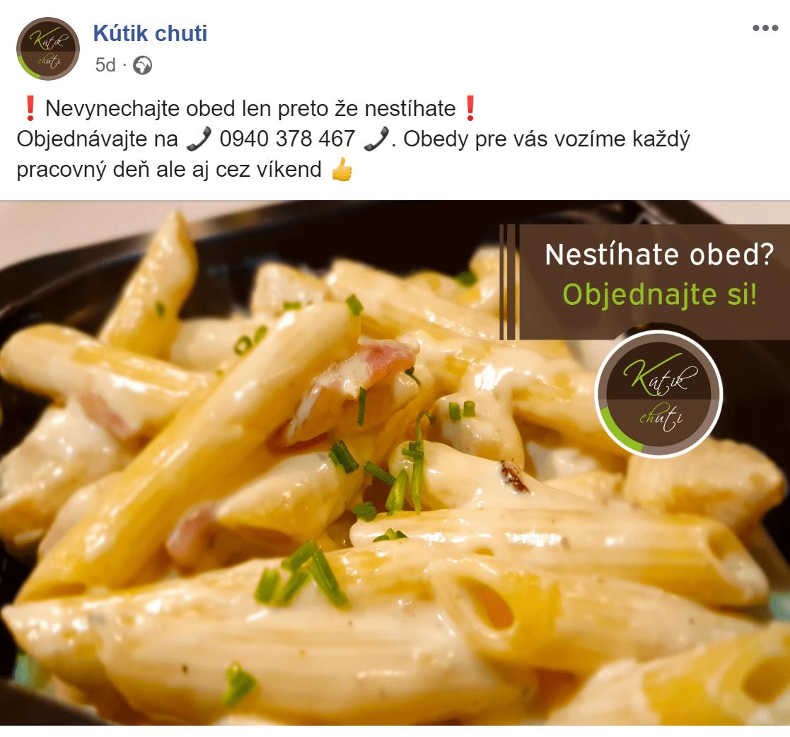 Facebook reklama pre Kutik chuti - ukážka 10