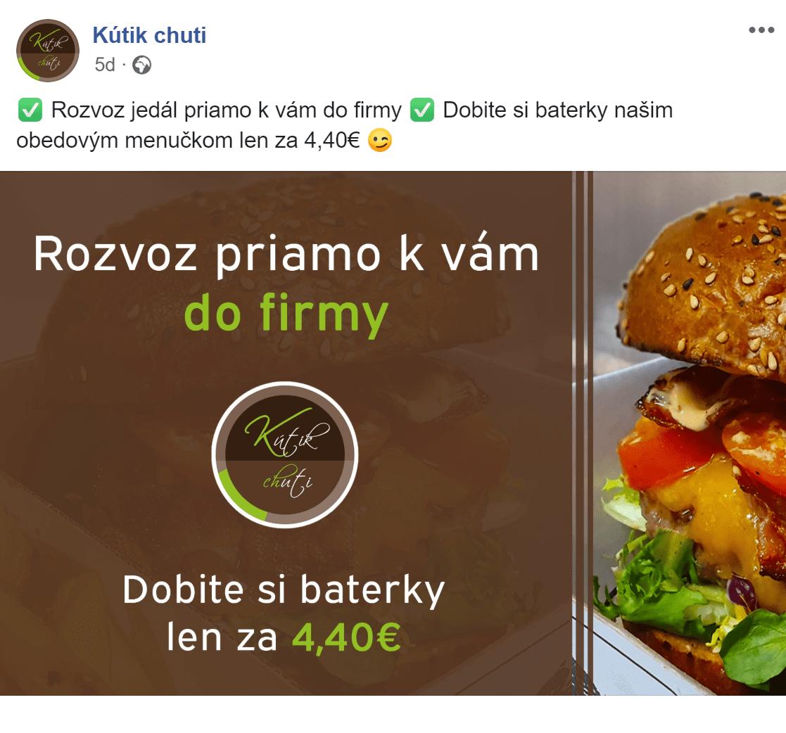 Facebook reklama pre Kutik chuti - ukážka 11