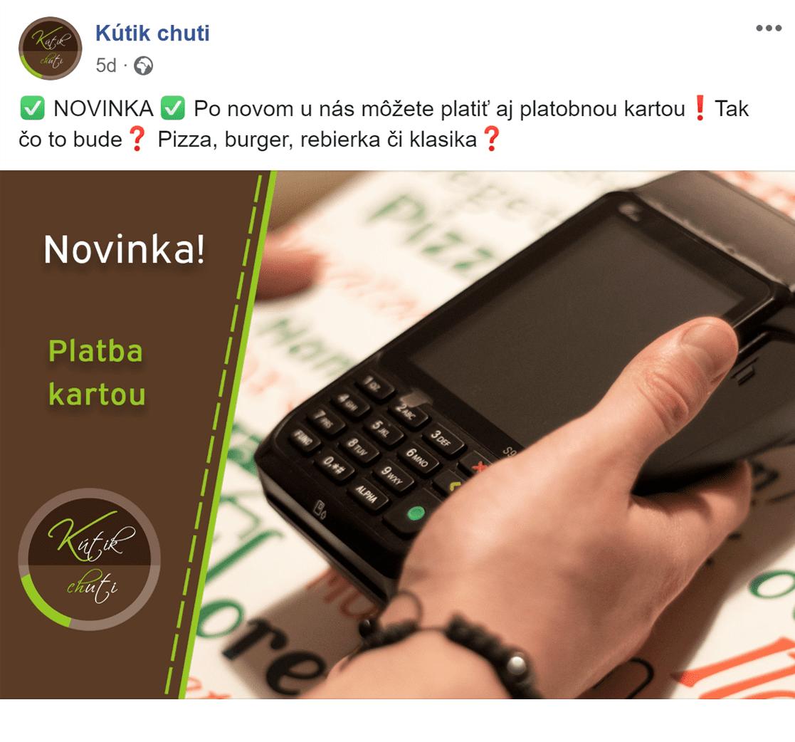Facebook reklama pre Kutik chuti - ukážka 3