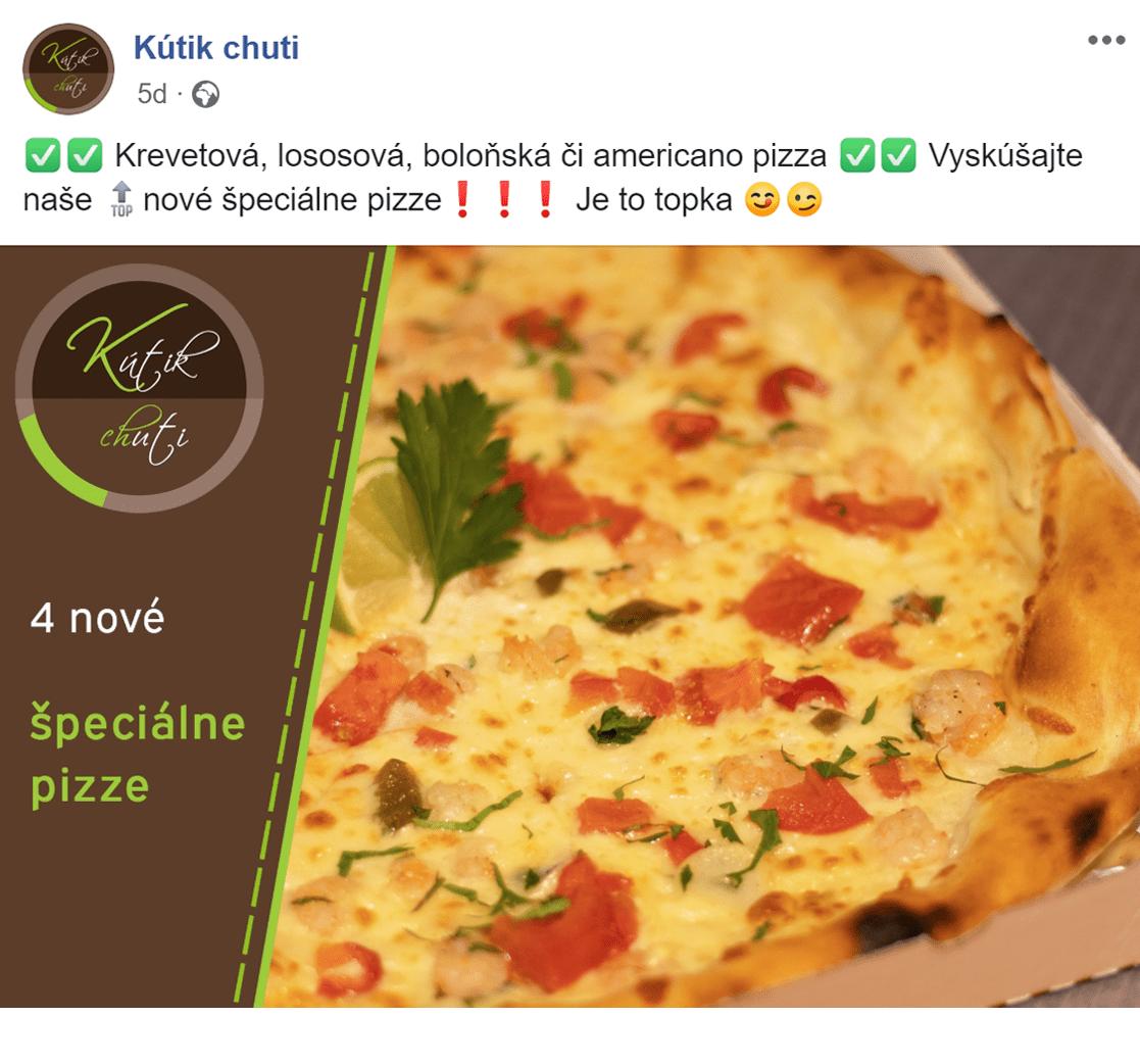 Facebook reklama pre Kutik chuti - ukážka 4