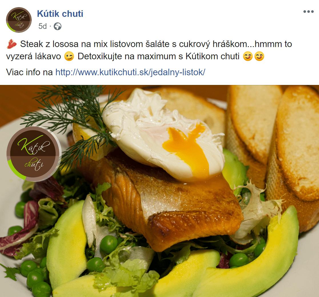 Facebook reklama pre Kutik chuti - ukážka 5